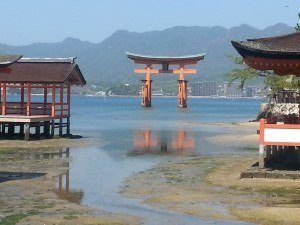 Floating tori at Miyajima shrine near Hiroshima