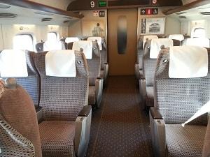 Shinkansen interior