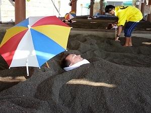 Hot sand bath, Ibusuki, Kyushu