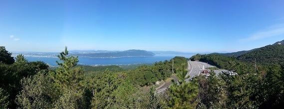 view from Sakurajima across to Kagoshima