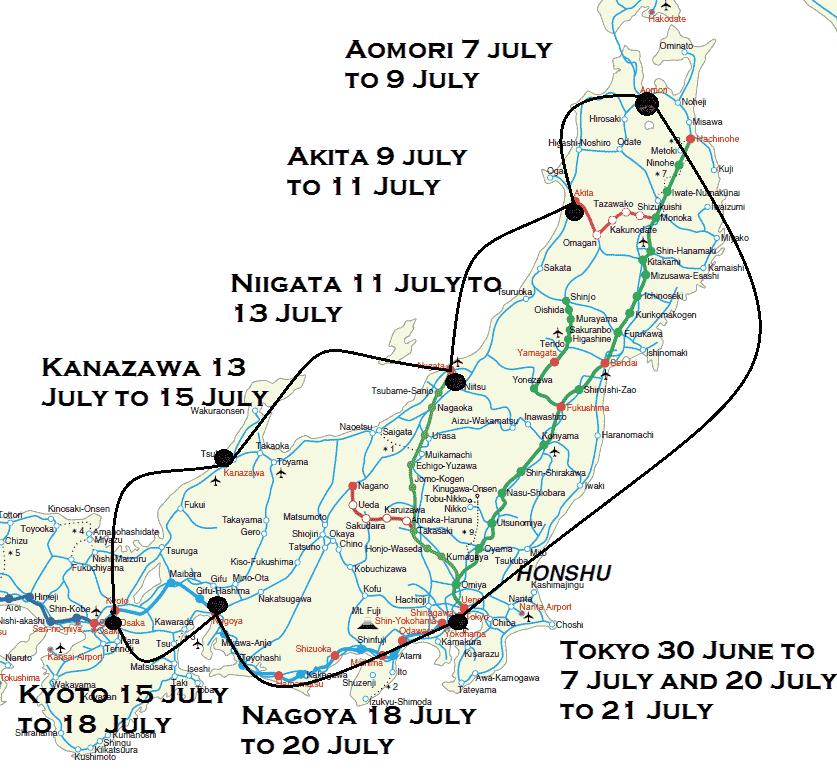 July tour map